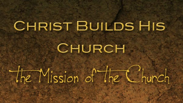 Christ Builds His Church