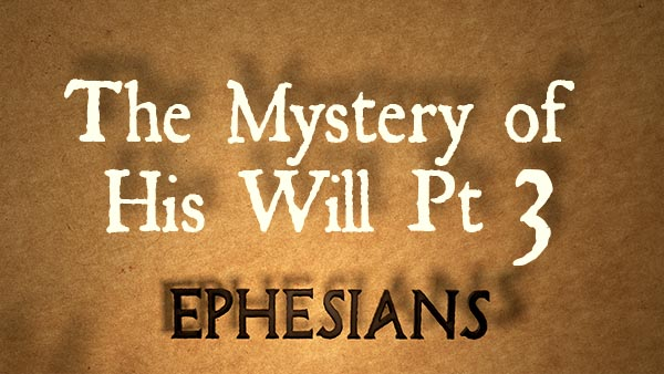 The Mystery of His Will Pt 3